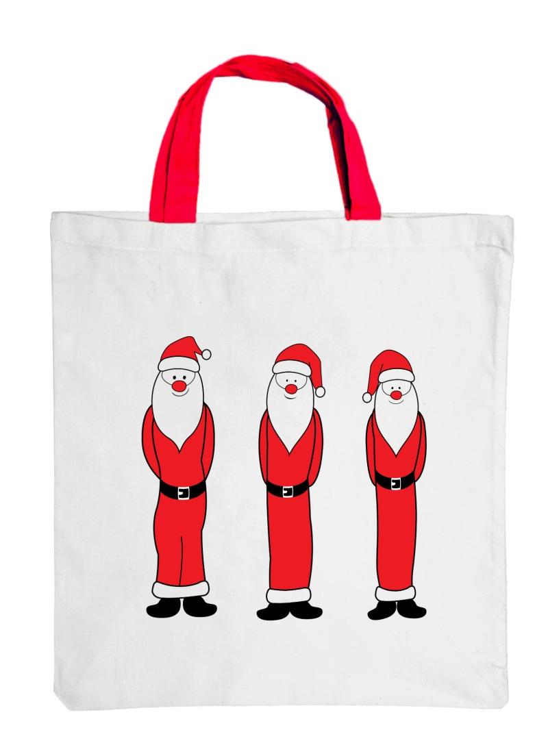 """Große Motiv-Baumwolltasche """"Santa Claus"""""""