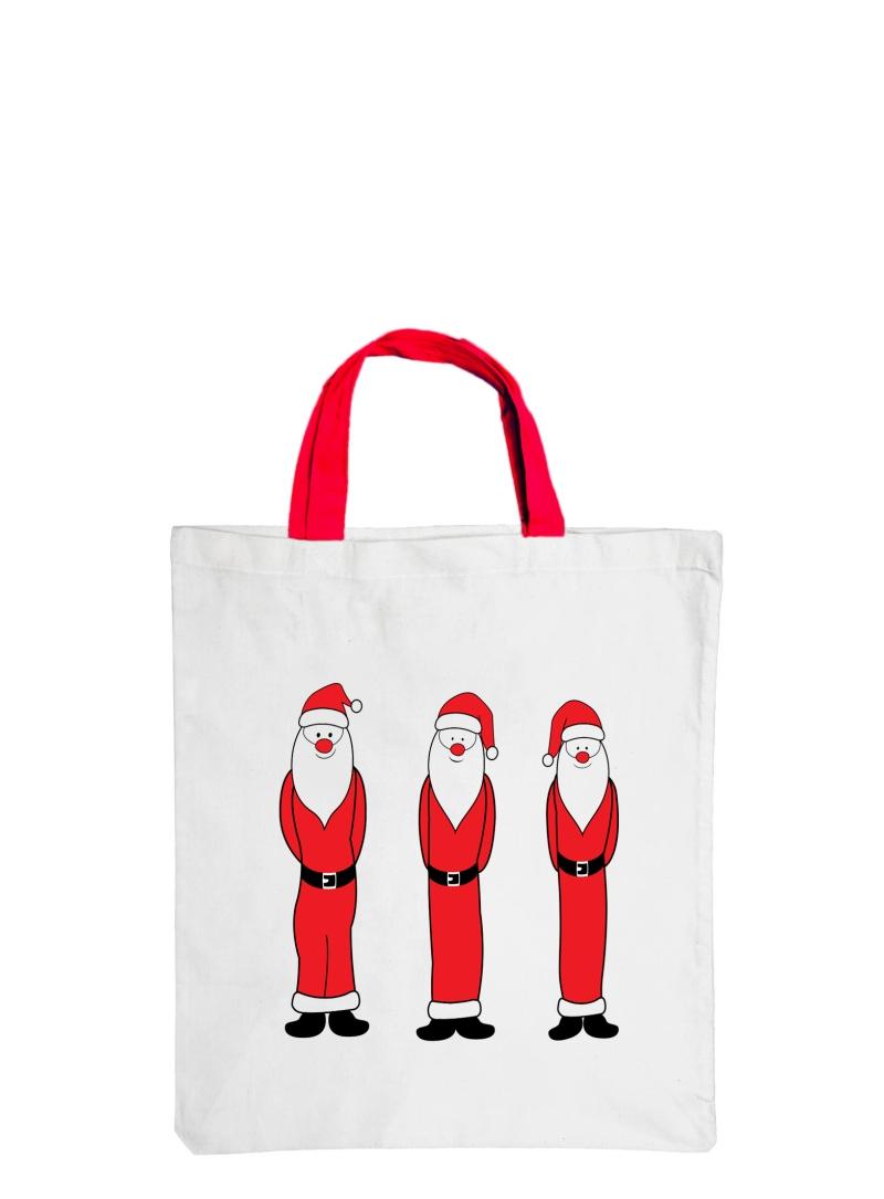 """Mittlere Motiv-Baumwolltasche """"Santa Claus"""""""