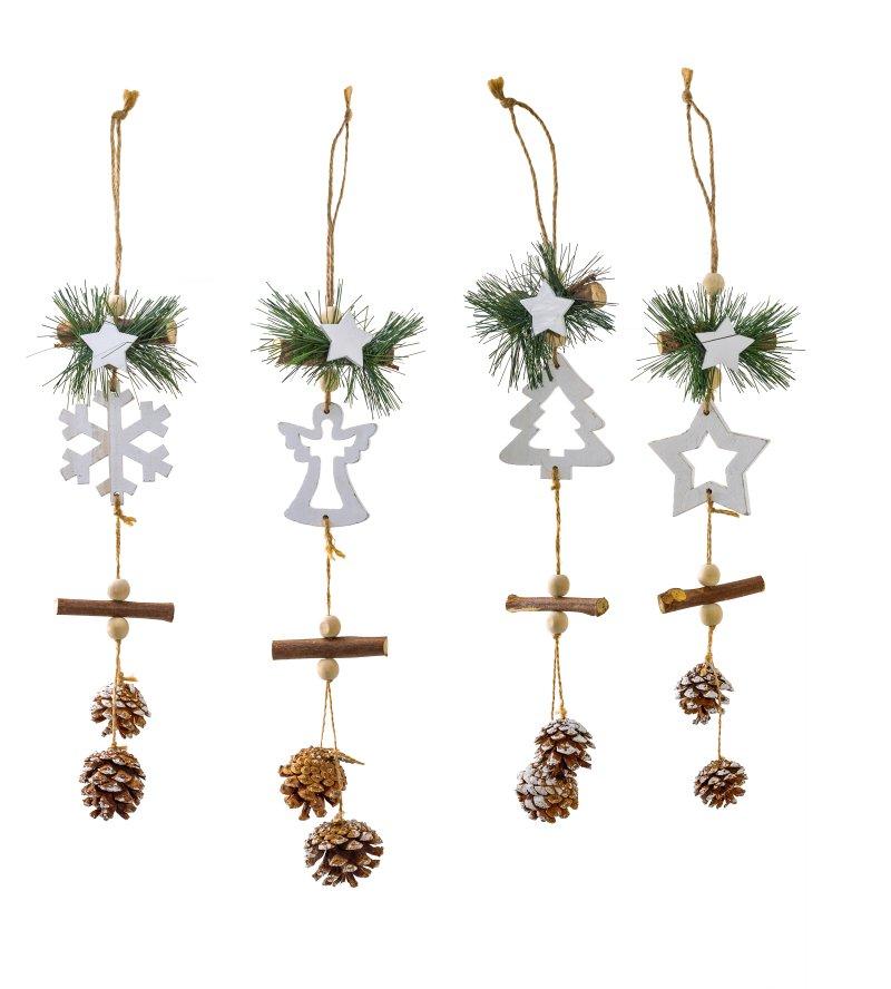 Großer Weihnachtsanhänger aus Holz