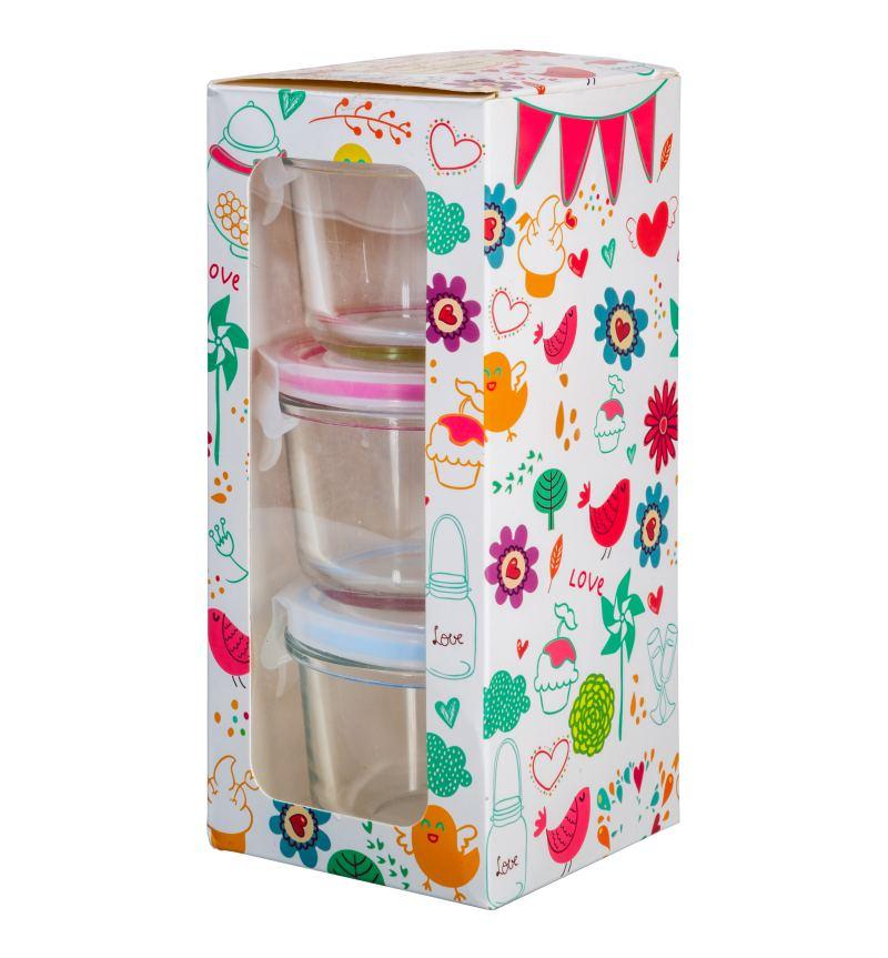 Set aus drei Multifunktionsboxen mit je 150 ml