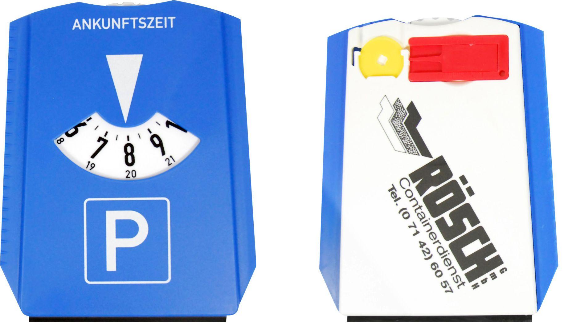 Parkscheibe mit Eiskratzer, EK-wagenchip, Profilmesser