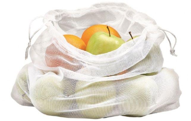 Mehrweg-Frischenetz - Wiederverwendbares Netz für unverpacktes Obst und Gemüse