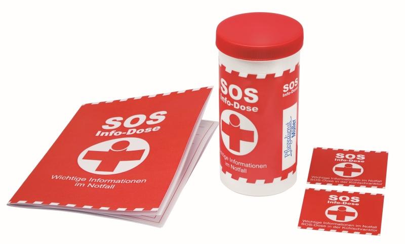 SOS-Info-Box (Notfalldose)