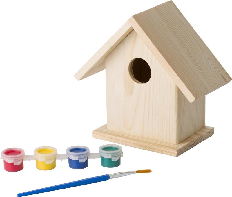 Vogelhaus aus Holz zum Bemalen