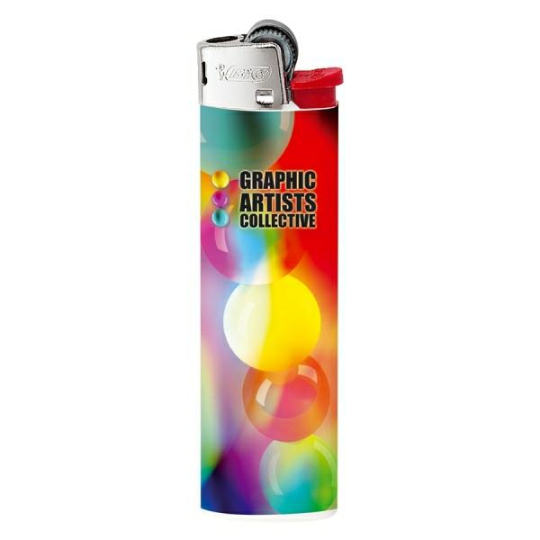 Feuerzeug BIC Slim J23 mit 4-farbigem Digitaldruck