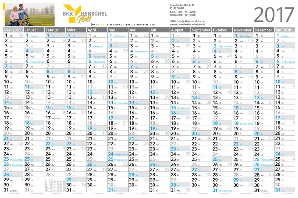 Wandplaner-Kalender Horizont L Complete